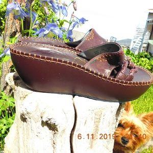 Indigo by Clarks Leather Platform Slides